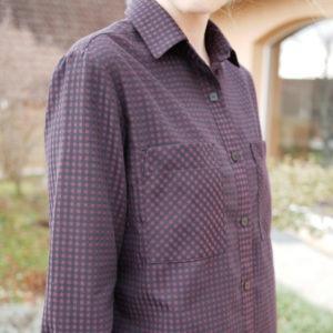 Une année de couture, tissu p'tits carreaux elixir, patron chemise Archer Grainline studio