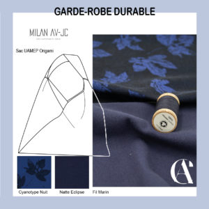 Idée couture pour tissus GOTS cyanotype GOTS
