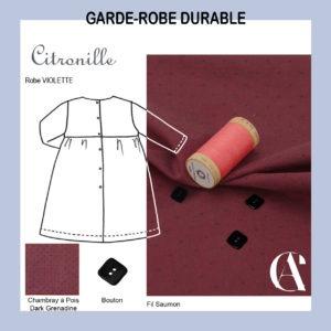 robe fillette chambray GOTS Les trouvailles d'Amandine