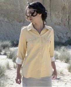 chemise Albane par Chez Machine en chambray safran